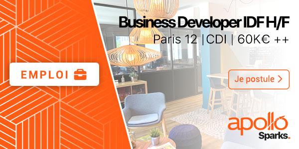 Offre d'emploi pour le poste de Business Developper HF Paris 12 CDI 60K€