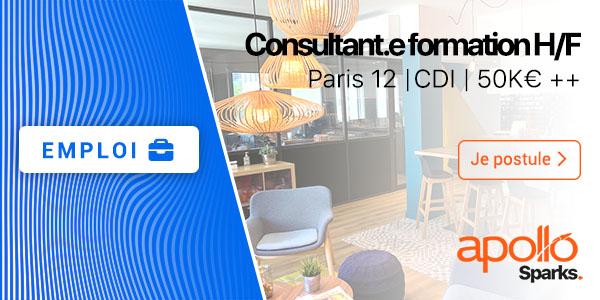 Offre d'emploi consultant.e formation H/F Paris 12 CDI 50K€